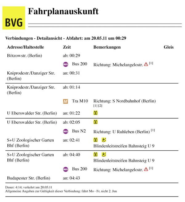 BVG.de - Fahrplanauskunft