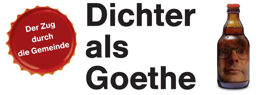Dichter als Goethe Facebookkopf Zug Korken