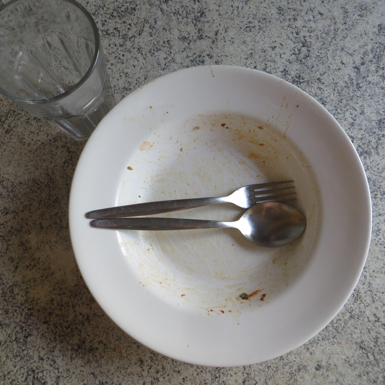 Aufgegessen